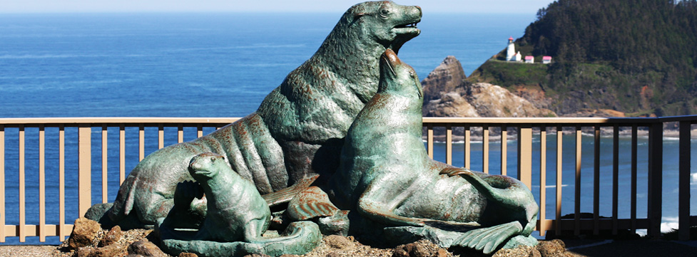 Sea Lion Caves Statue